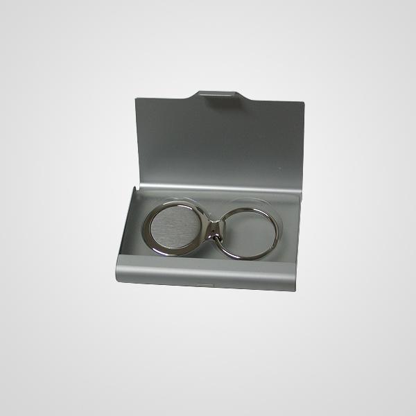 Art.: 4535 Porta tarjeta con llavero circular