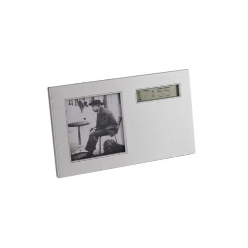 Reloj porta foto con banner digital