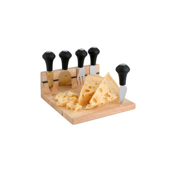 Set de tabla de madera para quesos